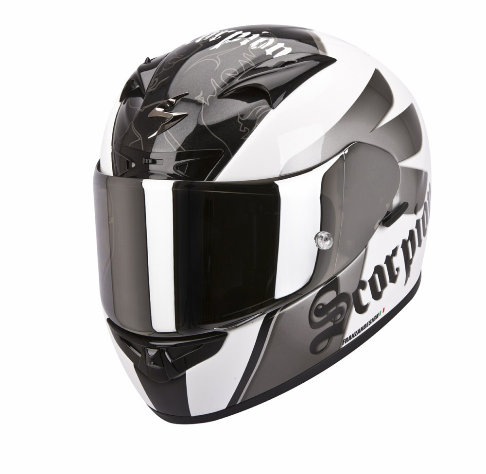 Scorpion Exo 710 Air Knight full face helmet white silver