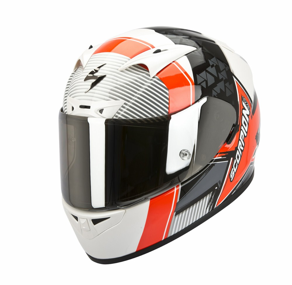 Scorpion Exo 710 Air Crystal full face helmet white red