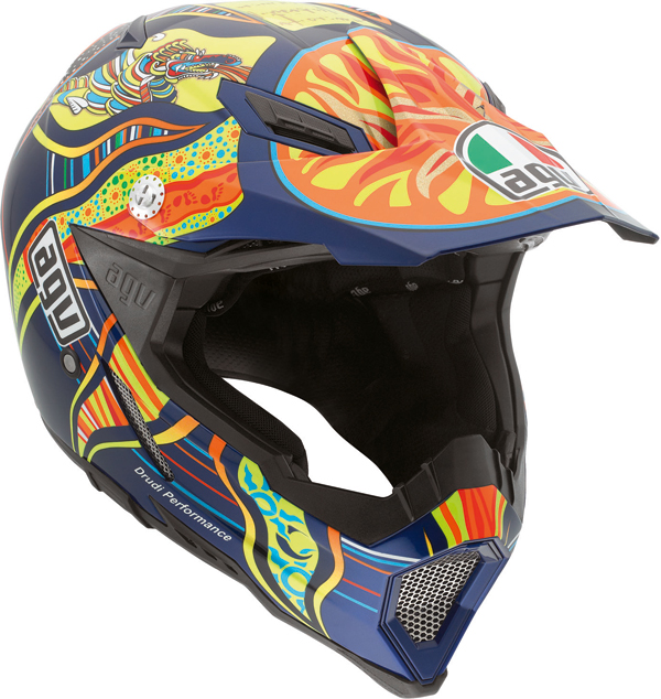 Agv AX-8 Evo Top Five Continents off-road helmet