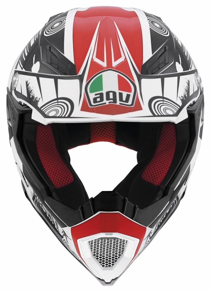 Casco moto off-road Agv AX-8 Evo Multi Cool bianco nero rosso