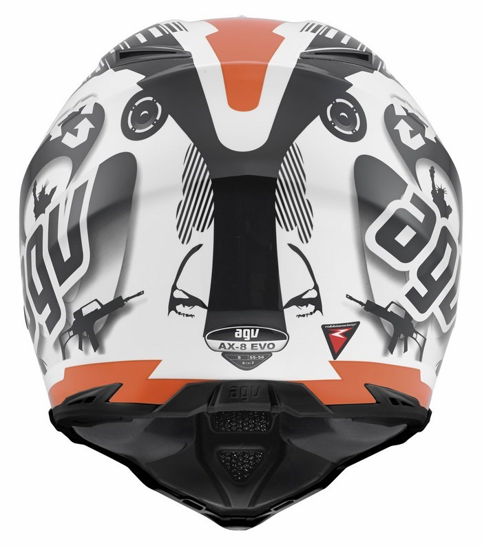 Casco moto off-road Agv AX-8 Evo Multi Cool bianco nero arancio