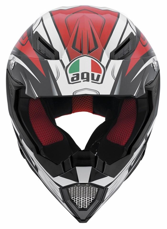 Casco moto off-road Agv AX-8 Evo Multi Factory nero bianco rosso