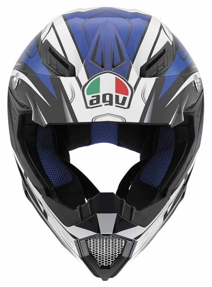 Casco moto off-road Agv AX-8 Evo Multi Factory nero bianco blu