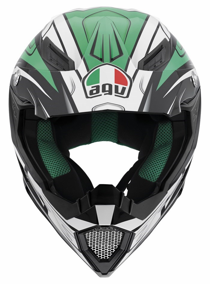 Agv AX-8 Evo Multi Factory offroad helmet black white green