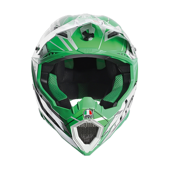 AGV AX-8 EVO Scratch cross helmet White Green