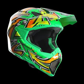 AGV AX-8 EVO Spray cross helmet Green Yellow
