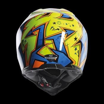 AGV AX-8 EVO Spray cross helmet Yellow Orange