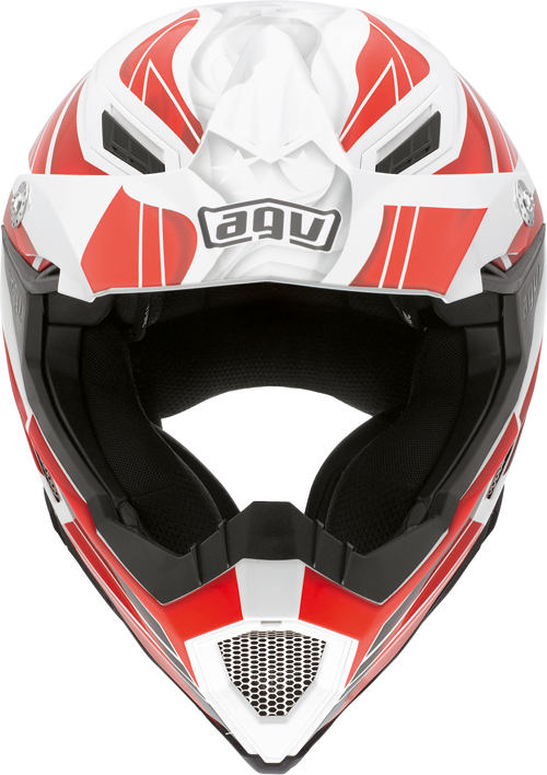 Agv AX-8 Evo Multi Flagstar off-road helmet white-red
