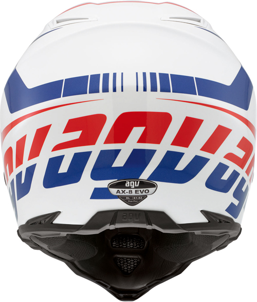 Agv AX-8 Evo Multi Klassik off-road helmet white-red-blue