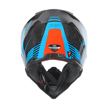 AGV AX-8 Carbon Carbotech cross helmet Orange Blue