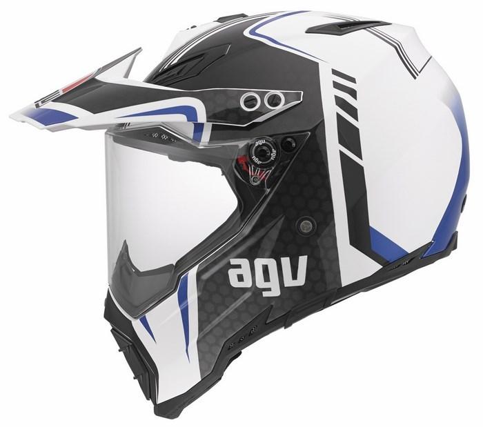 Casco moto off-road Agv AX-8 Dual Evo Multi GT bianco gunmetal b