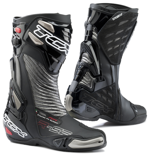 Motorcycle Boots TCX R-S2 Black Graphite Ages