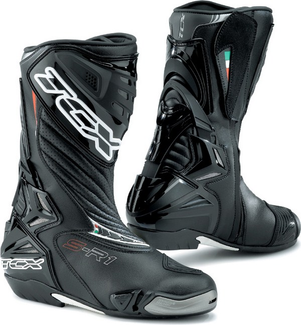 Tcx Boots motorcycle racing S-R1 black
