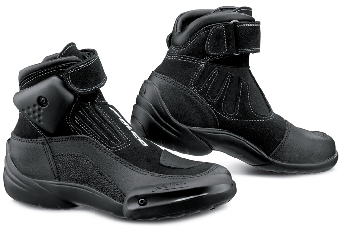 Motorcycle leather baby shoes Kid Black Falco Hot Wheels