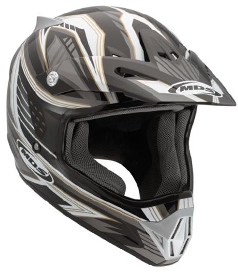 Casco moto cross Mds by Agv CMX Multi Rush nero-bianco-gunmetal