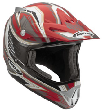 Mds by Agv CMX Multi Rush off-road helmet red-black-gunmetal