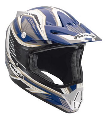 Casco moto cross Mds by Agv CMX Multi Rush blu-nero-gunmetal