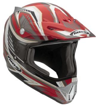 Mds by Agv CMX Multi Rush off-road helmet red-black-gunmetal