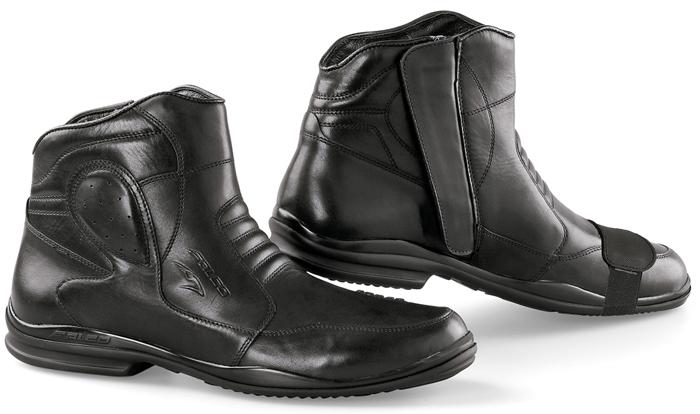 Motorcycle Leather Shoes Black Falco Nikko LX