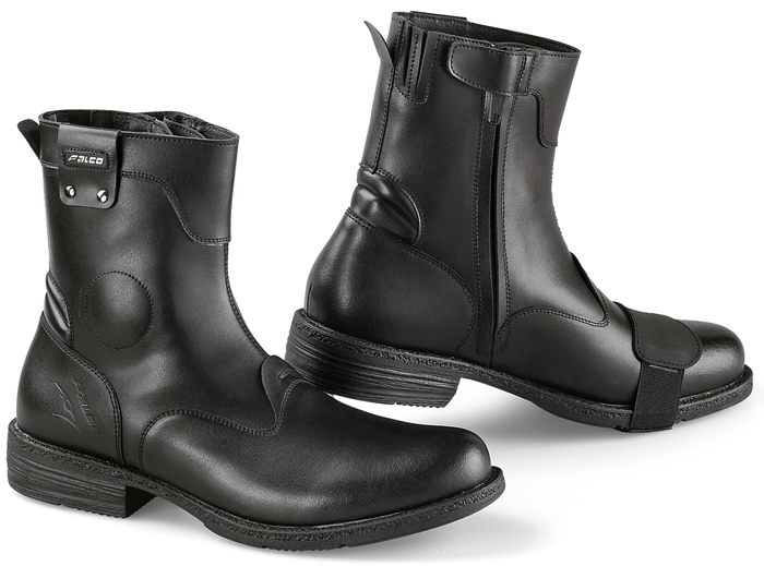 Motorcycle Boots Leather Falcon Black Pepper 2