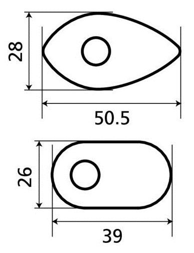 Corner lights adaptors - Honda 90061