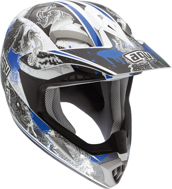 Casco moto Cross Agv  MT-X Multi Evolution bianco-blu