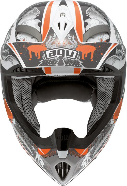 Casco moto Cross Agv  MT-X Multi Evolution bianco-arancio