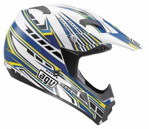 Casco moto cross Agv MT-X Multi Point bianco blu