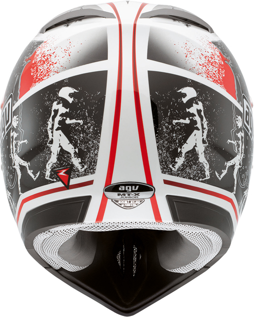 Agv MT-X Junior Multi Evolution off-road helmet white-red