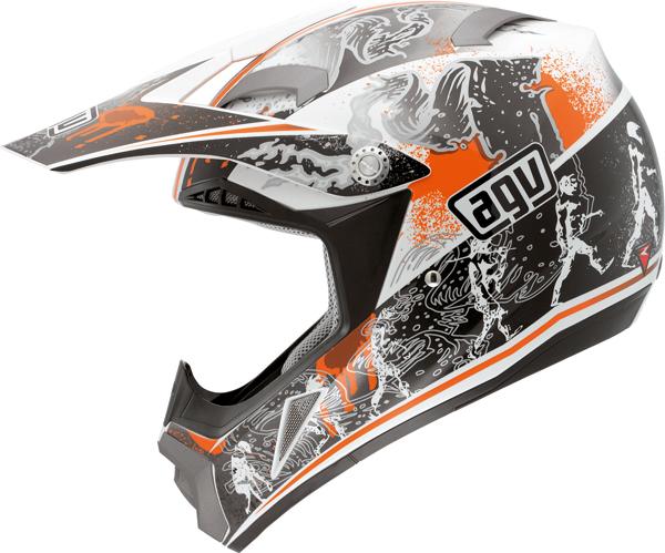Casco moto cross Agv  MT-X Junior Multi Evolution bianco-arancio