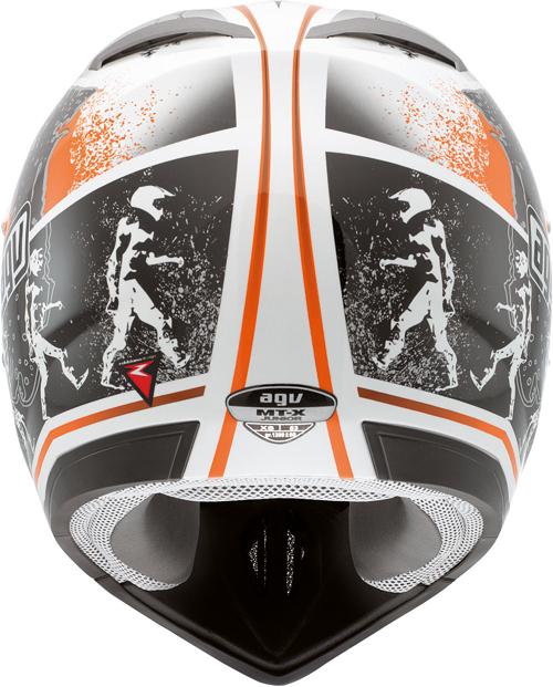 Agv MT-X Junior Multi Evolution off-road helmet white-orange