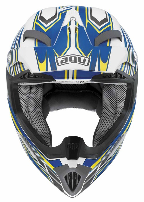 Casco cross bambino Agv MT-X Junior Multi Point bianco blu