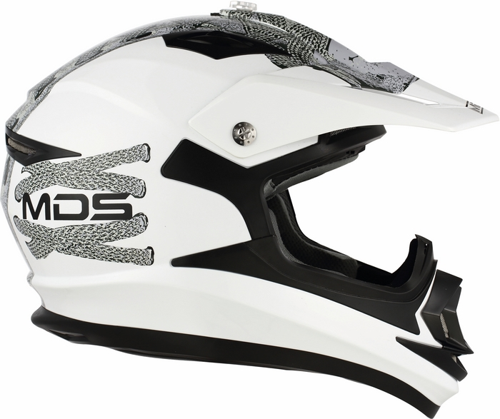 Casco moto cross Mds by Agv ONOFF Multi Lace Up bianco