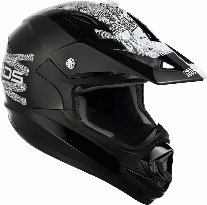 Casco moto cross Mds by Agv ONOFF Multi Lace Up nero