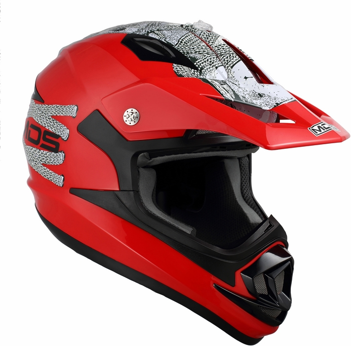 Mds by Agv ONOFF Multi Lace Up helmet red