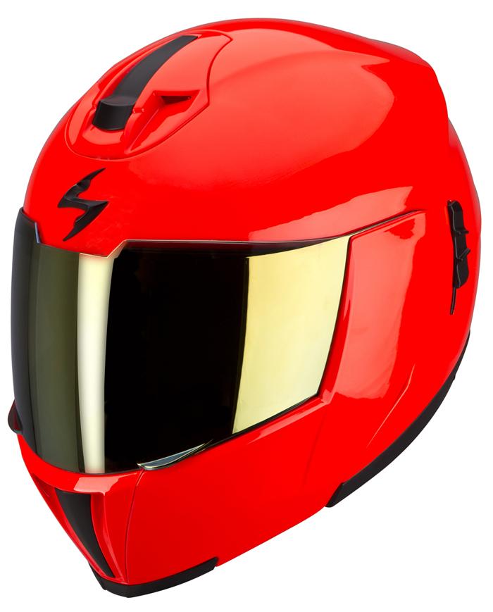 Casco modulare Scorpion EXO 910 Rosso neon
