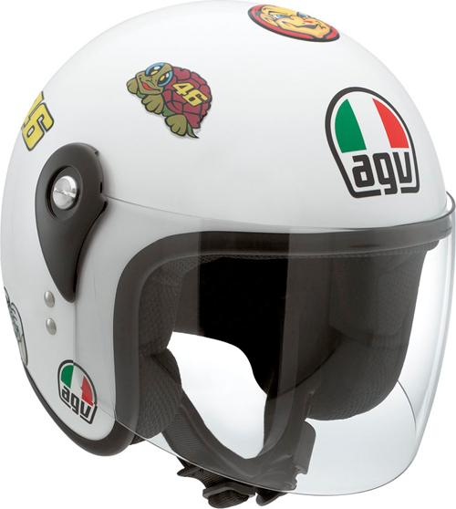 Casco moto Agv Junior Open Top Vale Symbols con stickers