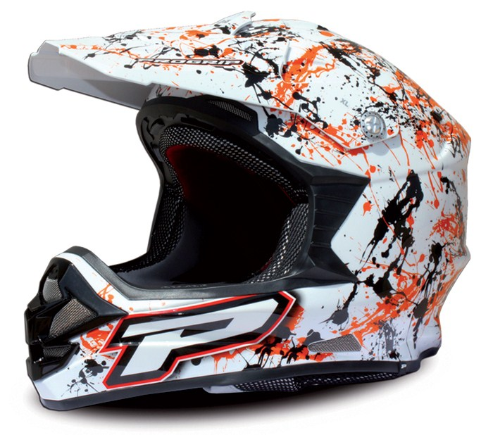 Casco cross Progrip Tricomposito Orange Paint