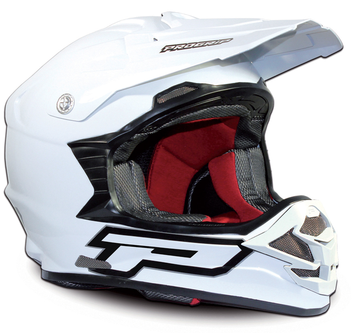 Casco cross Progrip Total White