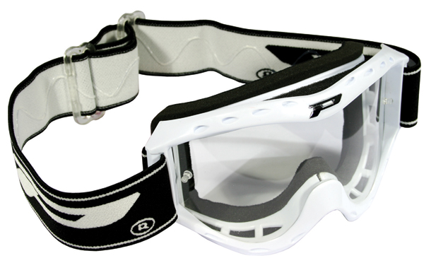 Goggles Progrip child cross White
