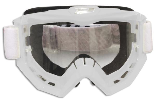 Goggles Progrip cross line White Race