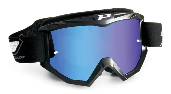 Goggles Progrip cross with blue mirror lens