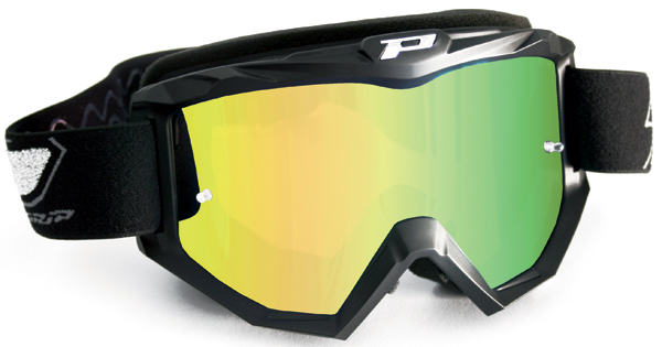 Cross Progrip goggles with mirror lens Yellow