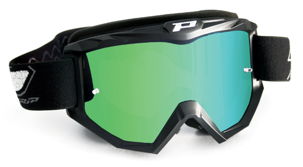 Cross Progrip goggles with mirror lens Green