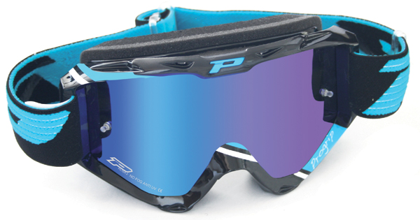 Goggles Progrip cross top with blue mirrored lenses
