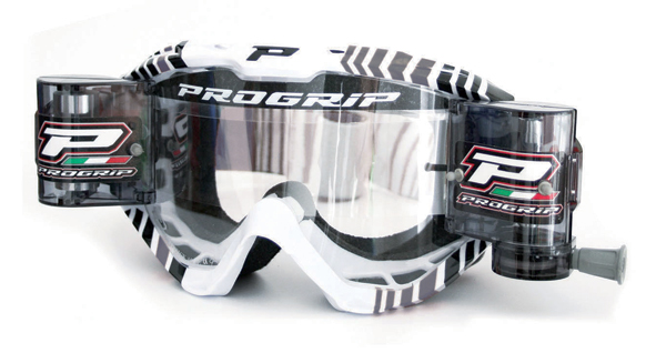 Cross Progrip goggles with roll off Grey
