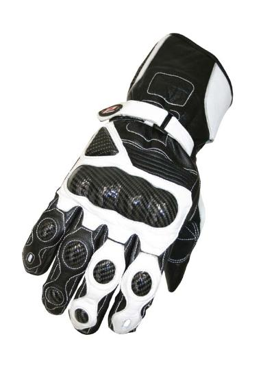 Progrip Racing Gloves with Kevlar Black White