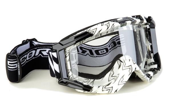 Occhiali cross Scorpion Bianco Nero
