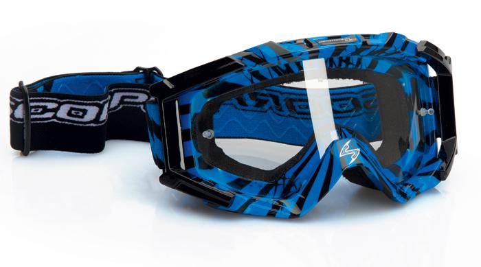 Glasses cross Scorpion Blue Neon Black