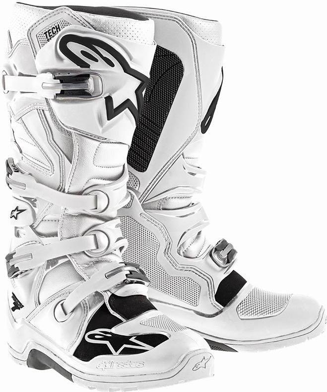 Motocross Boots Alpinestars Tech 7 White Enduro